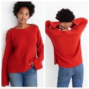 NWT Madewell Calloway Boatneck Pullover Sweater